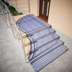 электрообогрев лестницы